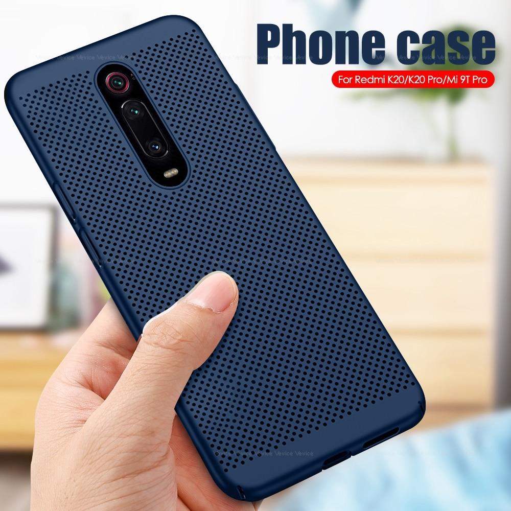 Cooling Mesh Case For Xiaomi Mi 9T Pro 9 mi9t mi9 t pro A3 Lite Heat Dissipation Hard PC Cover For Xiaomi Redmi K20 Note 8 Pro
