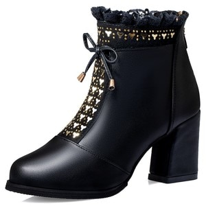 Sexy Woman Boots High Heels Ankle Boots for Women Elegant Boots Winter Autumn Boots Ladies Fashion Black Woman Shoes