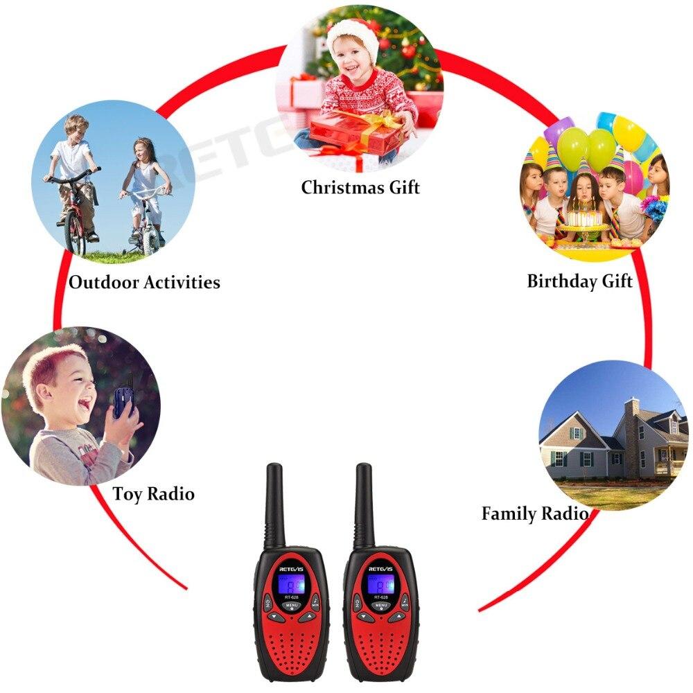 Retevis RT628 Walkie Talkie Children 2pcs PMR PMR446  Four Colors 0.5W Children's radio Birthday Gift Walkie-talkie For Children enlarge
