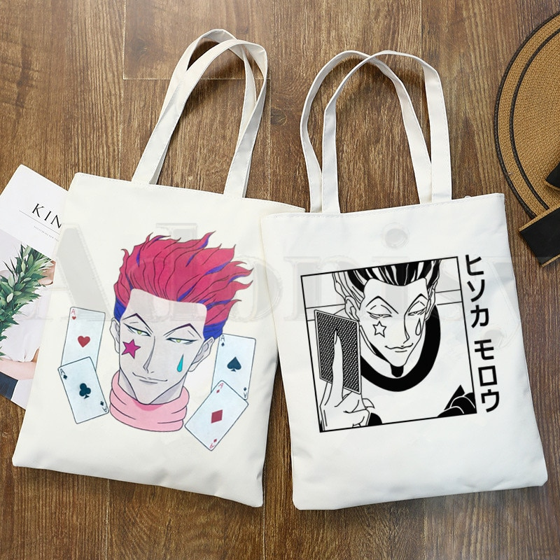 Hisoka Morow Hunter X Hunter Anime HxH Shoulder Canvas Bags Large Capacity College Harajuku Handbag