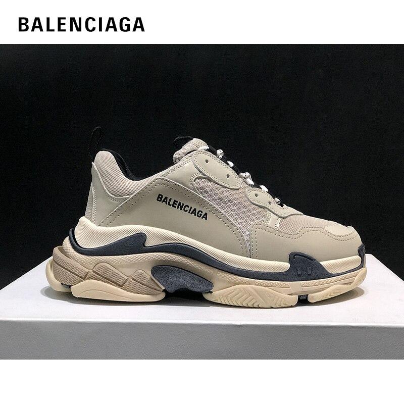 ¡Novedad de 2020! Zapatos Balenciaga Triple S para hombre, zapatillas gruesas con plataforma a la moda, zapatillas para correr para mujer