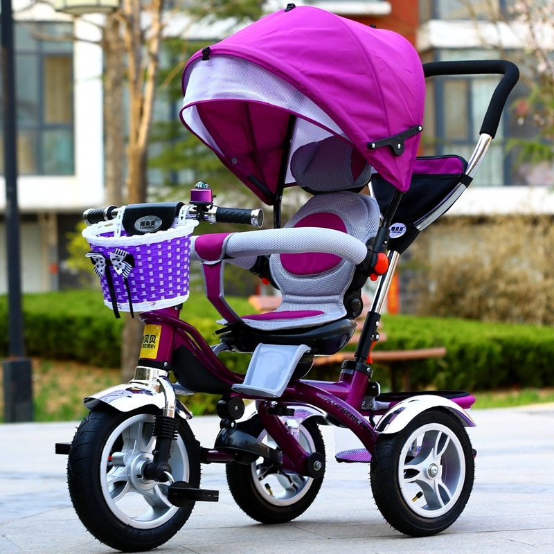 Children's Tricycle Bicycle Kids Wheelchair Reversible Baby Pram Trike Portable Tricycle for Boys and Girls Three Wheel Stroller enlarge
