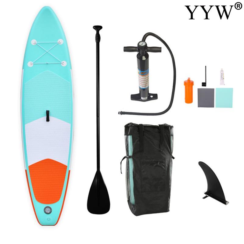 Tabla de surf para deportes acuáticos, tabla de surf, tabla de surf, Kayak 305*76*15cm, tabla de surf inflable, tabla de surf con soporte, bote de pesca inflable