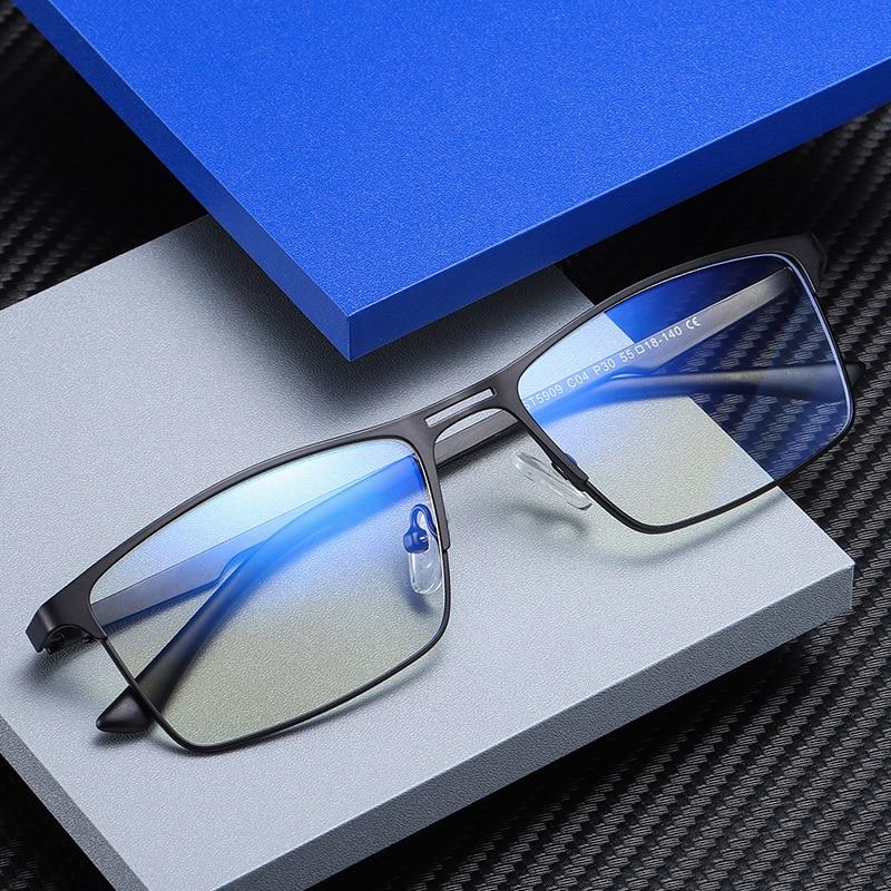 Montura de aleación para gafas de prescripción para ordenador gafas sólidas anti luz azul no gafas con dioptrías bluelight oculos