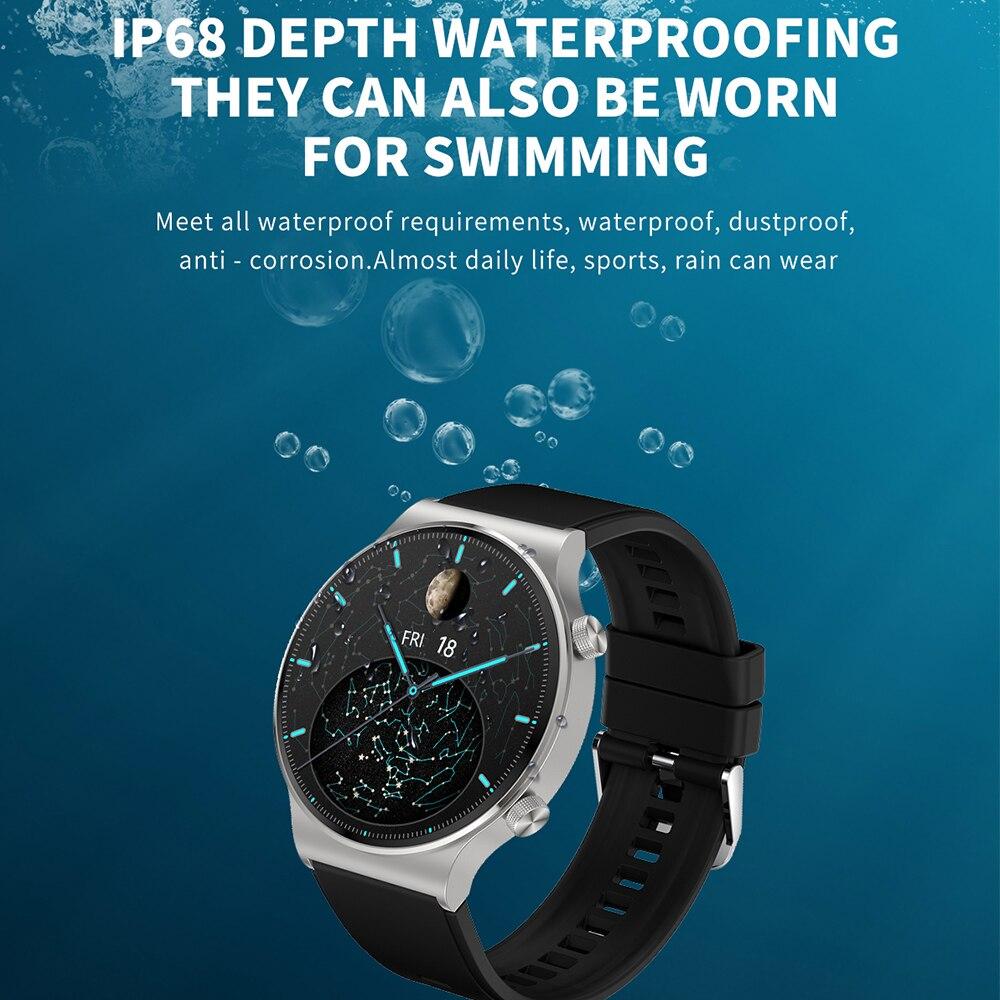 5pcs New C12 Smart Watch Men 2021 GT 2 Pro Blood Pressure Oxygen Monitor IP68 Waterproof Smartwatch For Huawei Watch GT 2 Pro M5