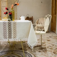tablecloth ins style home decoration linen simple cloth tablecloth rectangular cover cloth tablecloth