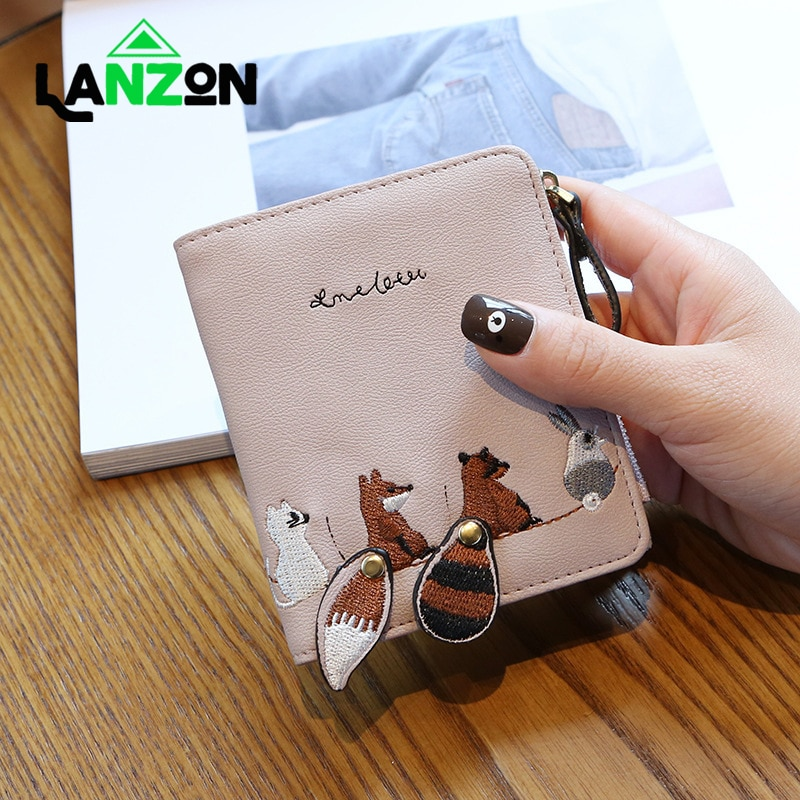 Cute Cartoon Animal Candy Colored Girl Coin Bags Women Key Wallet Leather Card Holder Children Lovely Mini Coin Purse Gift