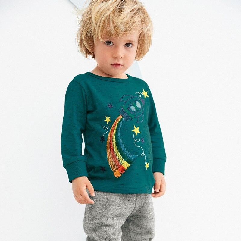 2020, camiseta para niños, ropa para niños Koszulki Meskie Koszulka, Tops de Otoño de manga larga, camiseta para bebé, camisetas de Rocket Enfant, nuevas
