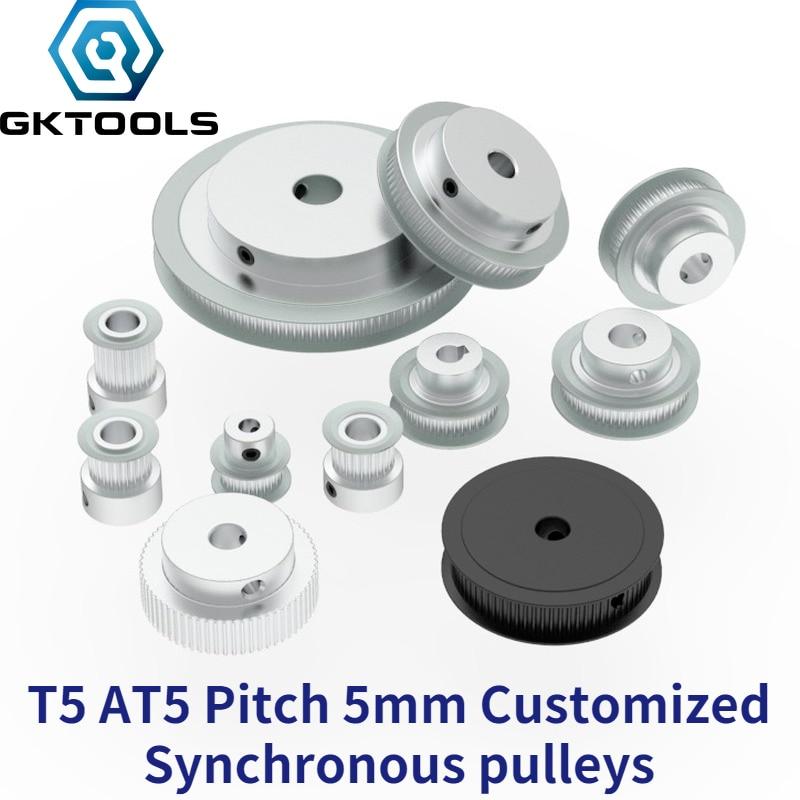 Gktool شبه منحرف T5 AT5 متزامن بكرة الملعب 5 مللي متر والعتاد عجلة تخصيص جميع أنواع متري T5 AT5 توقيت بكرة