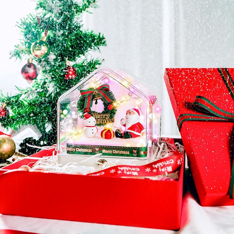 Nueva casa romántica Santa Claus edición Altavoz Bluetooth inalámbrico caja de música atmósfera luz regalo de Navidad