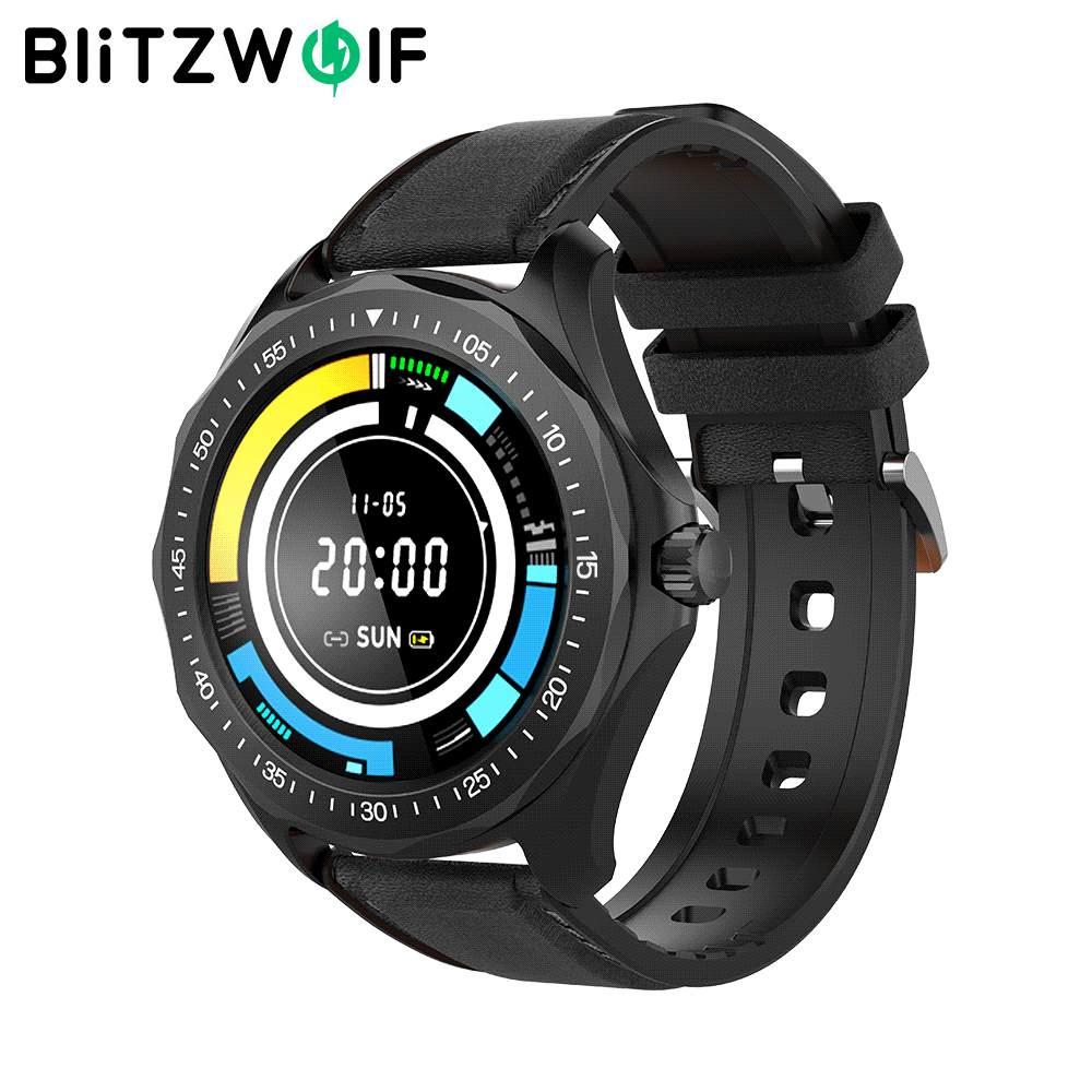 BlitzWolf BW-HL3 ساعة ذكية تعمل باللمس كامل معدل ضربات القلب مراقبة ضغط الدم بلوتوث متوافق Smartwatch للرجال والنساء