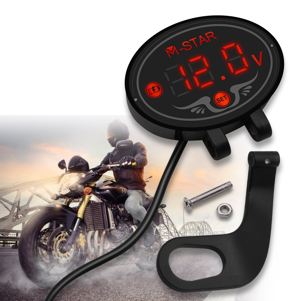 Medidor de voltímetro Digital impermeable para motocicleta, pantalla LED para Suzuki RG 500 V250 V S Z 800 Bandit 650S DL1000 GSX1250