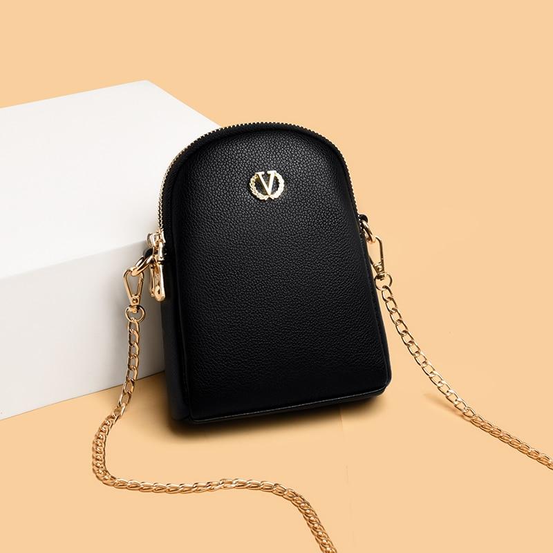 Small Black Women's Shoulder Bag Luxury Pu Leather Crossbody Bag Famous Brand Design Handbags Ladies Chain Summer Messenger Bags