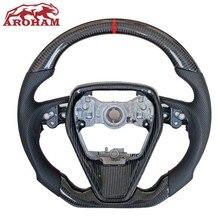 Модернизированный руль высокого качества из углеродного волокна, кожаный руль для Toyota Camry Highlander Corolla Rav4 Rav 4 Xv70 2015 2016-2020