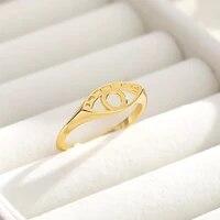delicate evil eye ring hollows charm hamsa rings for women men birthday gift trendy stainless steel mujer bijoux trendy jewelry