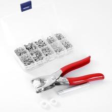 Pinze per la cura della pelle 9.5mm bottoni automatici a bottone in metallo 100 set morsetti rivetti a pressione popper slider per bambini fibbia 1 scatola