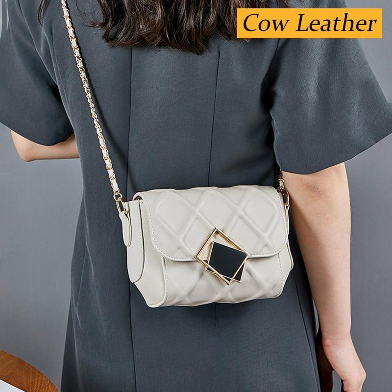 2021 المرأة حقيبة حقيبة يد فاخرة مصمم فاخر حمل حقيقية جلد البقر موضة عالية الجودة حزمة حقائب كتف تنوعا