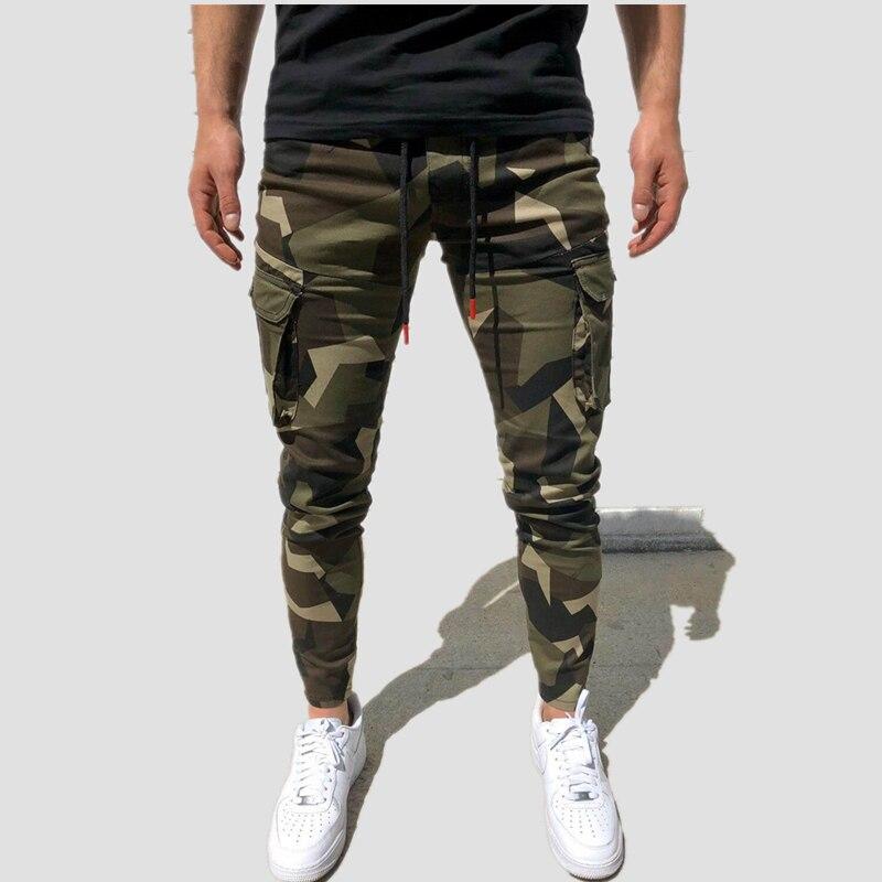 2020 New Men's Camouflage Pants Men Bodybuilding Joggers Sweatpants Autumn Streetwear Male Fitness Casual Sports Trousers