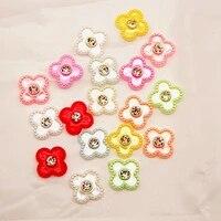 20pcs 20mmabs imitation pearl cross flower inlaid diamond handmade diy for jewelry headwear clothing accessories accessories