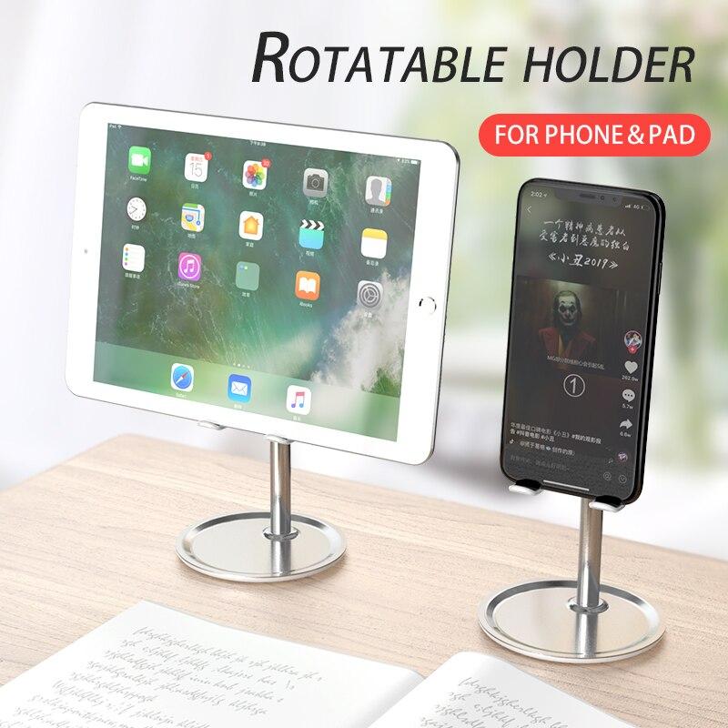 Настольная подставка для телефона, Универсальная регулируемая металлическая настольная подставка для планшета