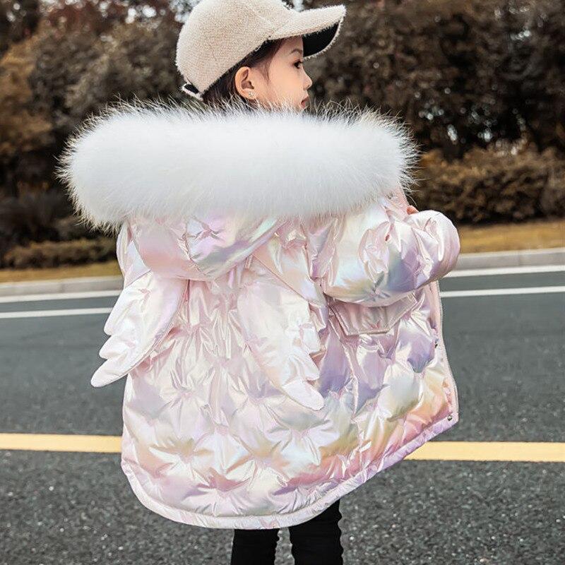 عيد الميلاد ازياء للفتيات في سن المراهقة الأطفال ملابس طويلة الفضة سترة طفلة الملابس معطف سنوسويت ملابس خارجية سترة ملابس الثلوج