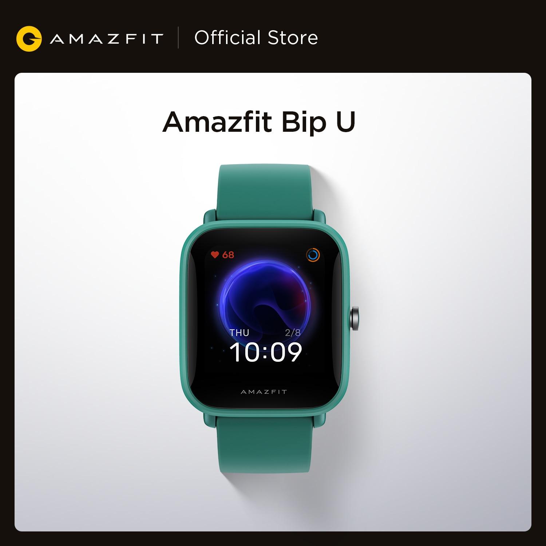 جديد Amazfit Bip U Smartwatch اللون عرض GLONASS النوم رصد 5ATM مقاومة للماء ساعة ذكية للهاتف أندرويد iOS