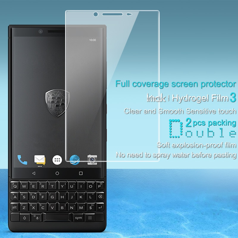 Imak 2 uds película transparente de hidrogel 3th Gener para Blackberry Key2 3D Protector de pantalla completa para Blackberry Key2 película de pantalla