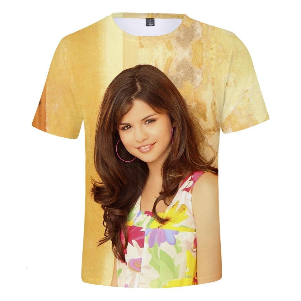 2019 selena gomez u. s. a cantora impressão 3d t camisa feminina camiseta camisa femme roupas kpop poster mark lucas 4xl mercadoria