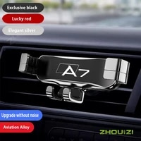 car mobile phone holder smartphone holder air outlet clip air vent mount gps stand for audi a7 sportback 4ka 4ga 4gf accessories