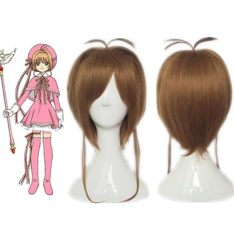 KINOMOTO Sakura peluca Sakura Cardcaptor tarjeta clara Cosplay disfraz Rosa Cosplay dulce Lolita vestido nuevo disfraz de Anime para Halloween