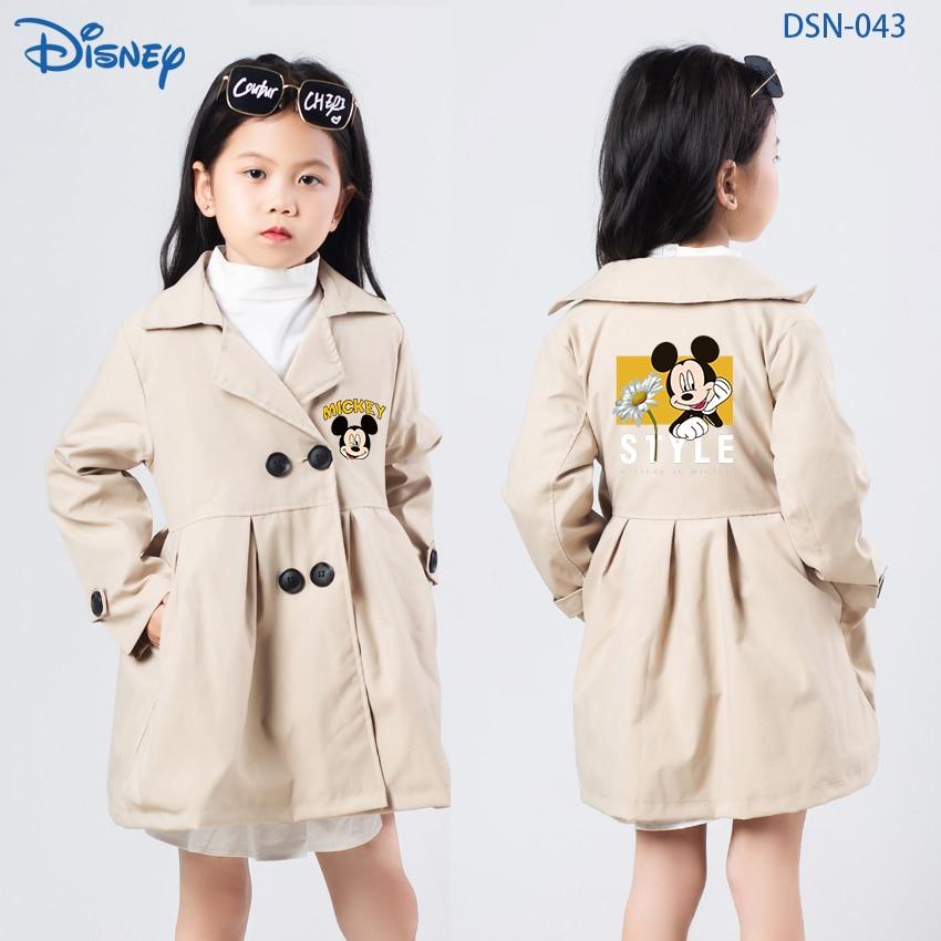 Disney Mickey Girl Baby Coat Cartoon Minnie Jacket Boys Girls Baby Outing Clothes Children Zipper Ca