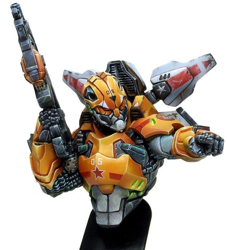 1/12 resina modelo de construcción Kit busto máquina soldado
