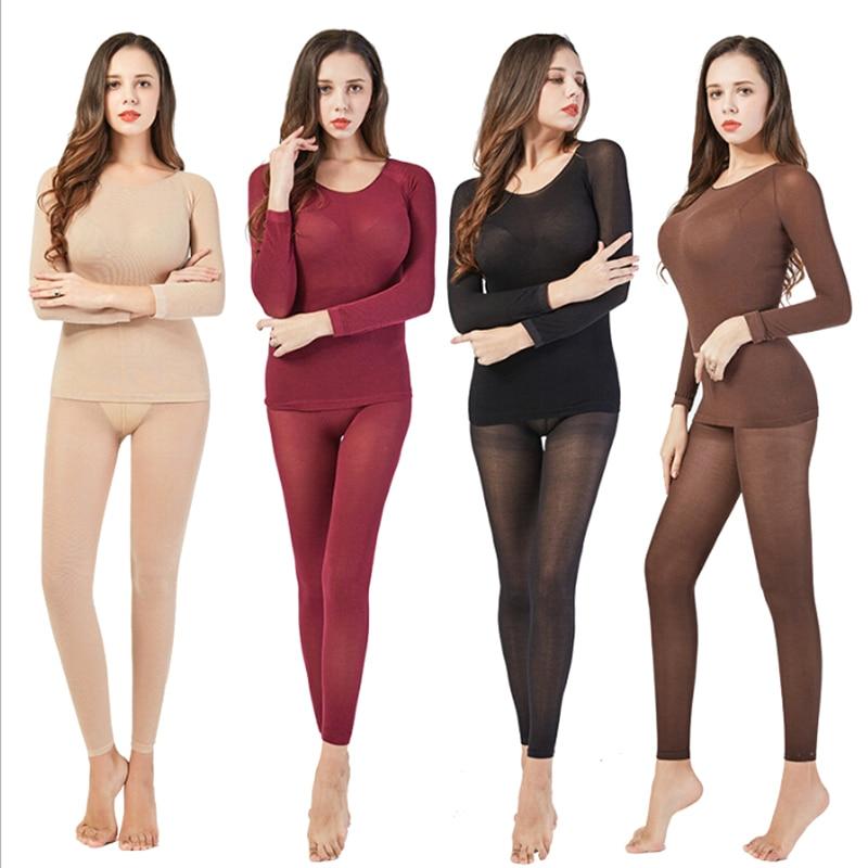 Thermal Underwear Women Sexy Warm Long Johns Seamless Winter Thermal Underwear Set Warm Thermos Clot