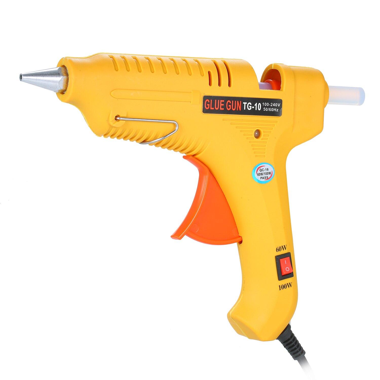 Pistola de pegamento de fusión en caliente 60 W/100 W máquina de pegamento de fusión en caliente ajustable de potencia Mini pistolas herramienta de temperatura térmica eléctrica