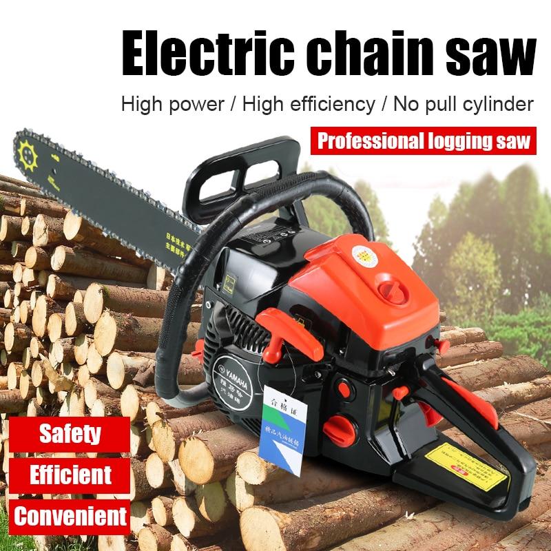 4000W Professional Chainsaw Electric Saws  Wood Bar Gasoline Gas Powered Chainsaw 62cc Engine DIY Chain Saw for Woodworking Tool