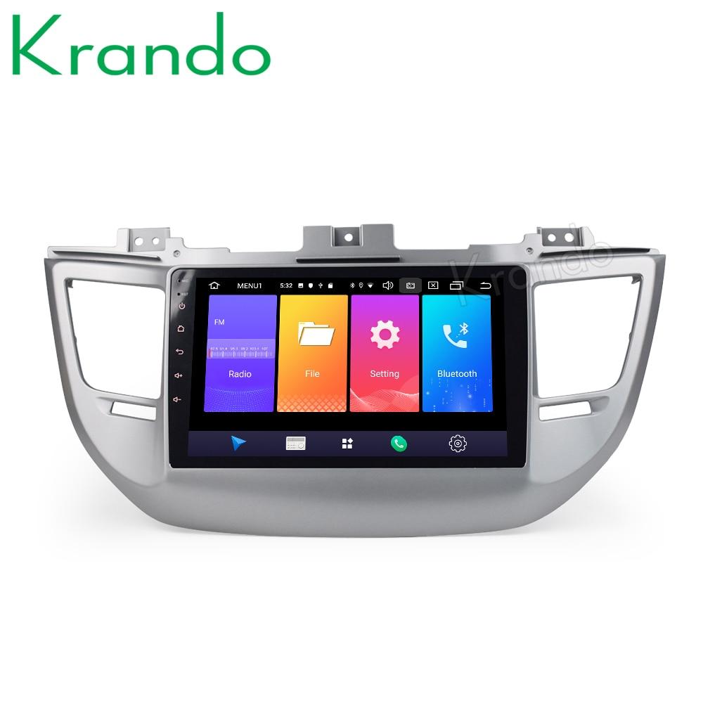 Krando Android 9.0 10,1 IPS Großen bildschirm auto multimedia-system für Hyundai IX35 tuscon 2015 + navigtaion GPS Keine 2din DVD