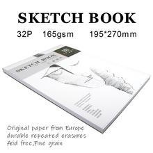 Dwurer carnet de croquis 16 feuille 165gsm 195x270mm Shetchbook pour dessin détudiant dart