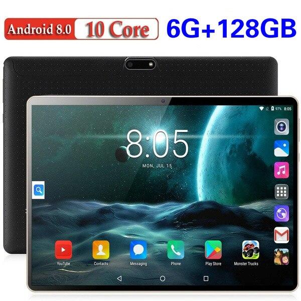 Tableta 4G LTE de 2020 pulgadas, versión Global, Android 10,1, Octa Core, IPS 2.5D, gran pantalla RAM, 6GB ROM, 8,0 GB GPS, WIFI, Tablet 10