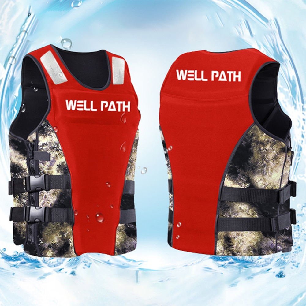 Professional life vest neoprene fishing vest surf rafting buoyancy life jacket adult children swimming vest floating life jacket