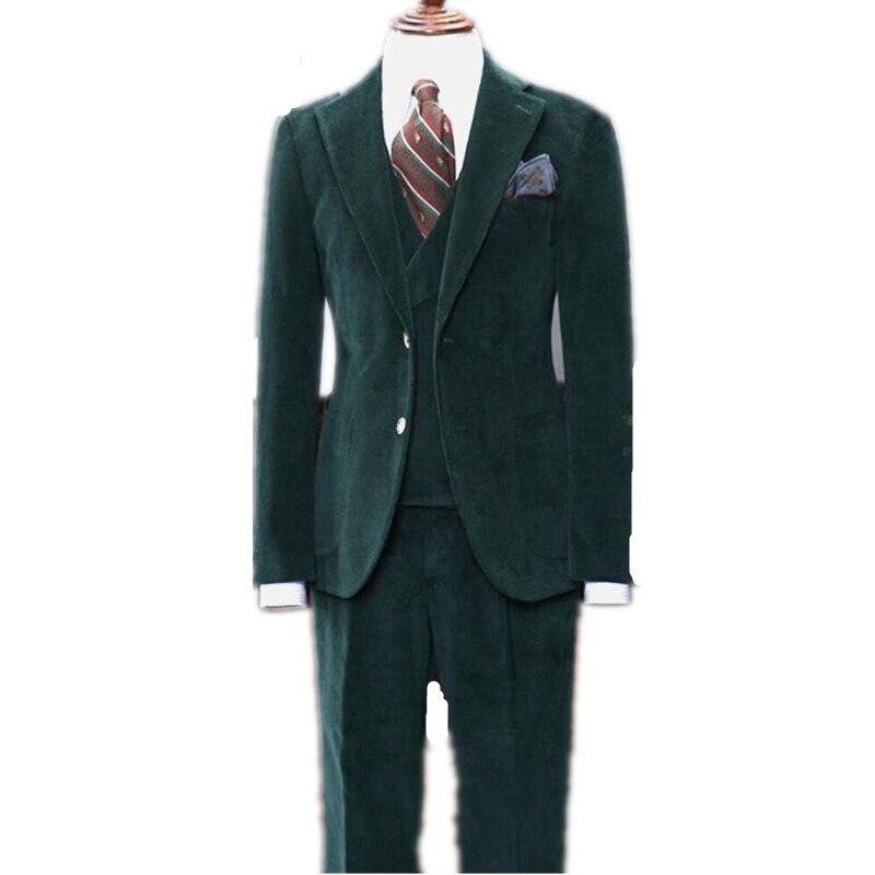 بدلة رجالية من سروال قصير أخضر داكن ، بدلات رسمية ، عريس ، زفاف ، زرين