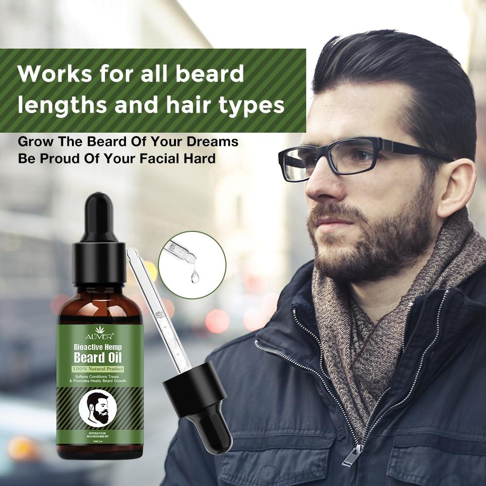 1 unidad de aceite de barba de cáñamo orgánico puro de 30ml para que la barba pierda el cabello fortalece el aceite de crecimiento para la barba de los hombres