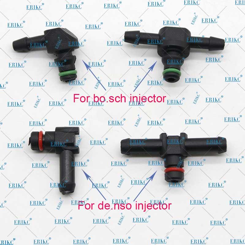Tubo de unión de reflujo de aceite de retorno 10 Uds tipo T y L para tubo de conector de plástico del inyector Diesel Bosch Denso