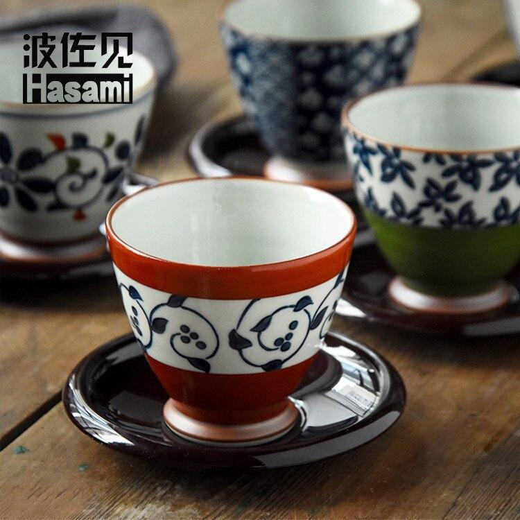 HASAMI importado de Japón Taza de cerámica jingying gu taza de té tazón de cinco en caja de regalo de gama alta conjunto venta al por mayor
