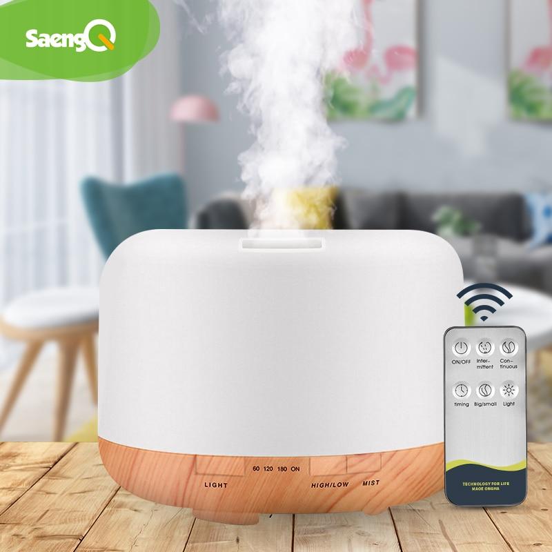 saengQ Electric Aroma Diffuser Air Humidifier 300ML 500ML 1000ML Ultrasonic Cool Mist Maker Fogger L
