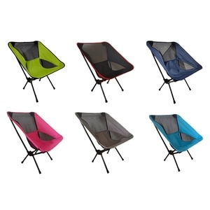 Hot SV-Outdoor Portable Folding Chair Beach Chair Fishing Chair Camping Hiking Chair Camping Leisure Moon Chair