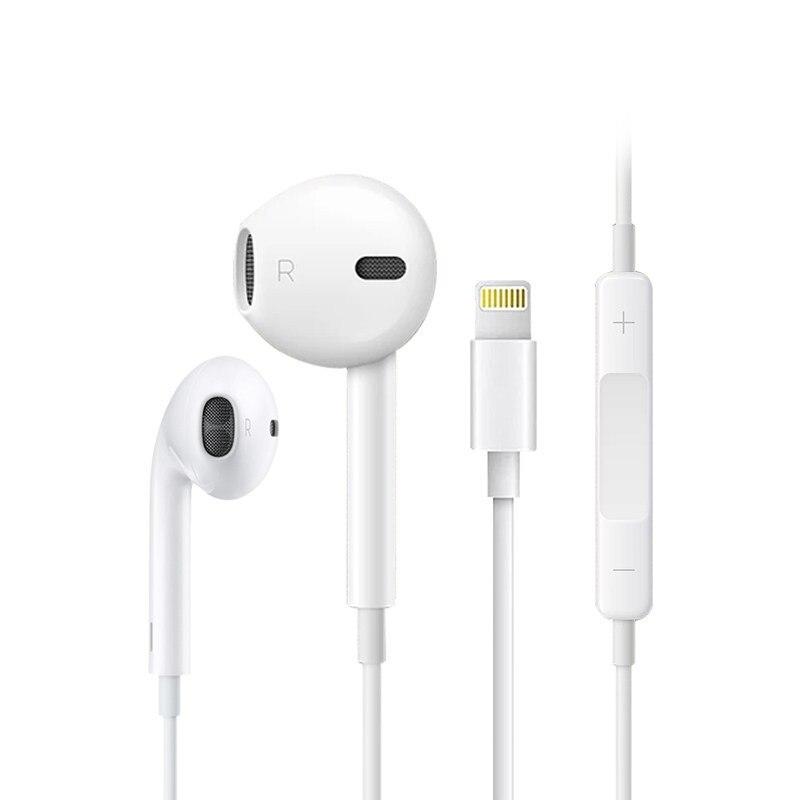 Оригинальные наушники с разъемом Lightning, 5 шт., проводные спортивные наушники с микрофоном, гарнитура для iPhone/iPad