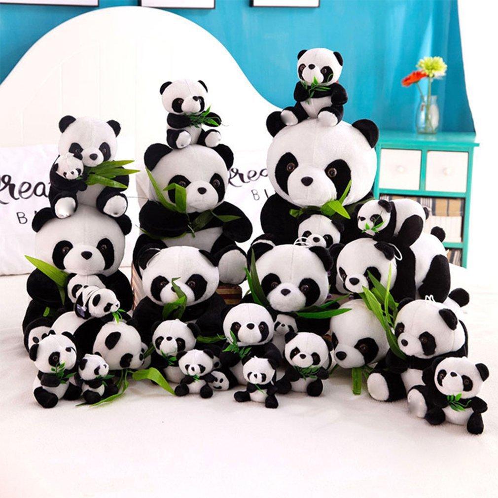 big size cute simulation fox toy resin Cute Big Hug Panda Toy Panda Simulation Cartoon Animal Plush Toy Doll Birthday Gift Vivid And Interesting Panda Bamboo Plush Toy