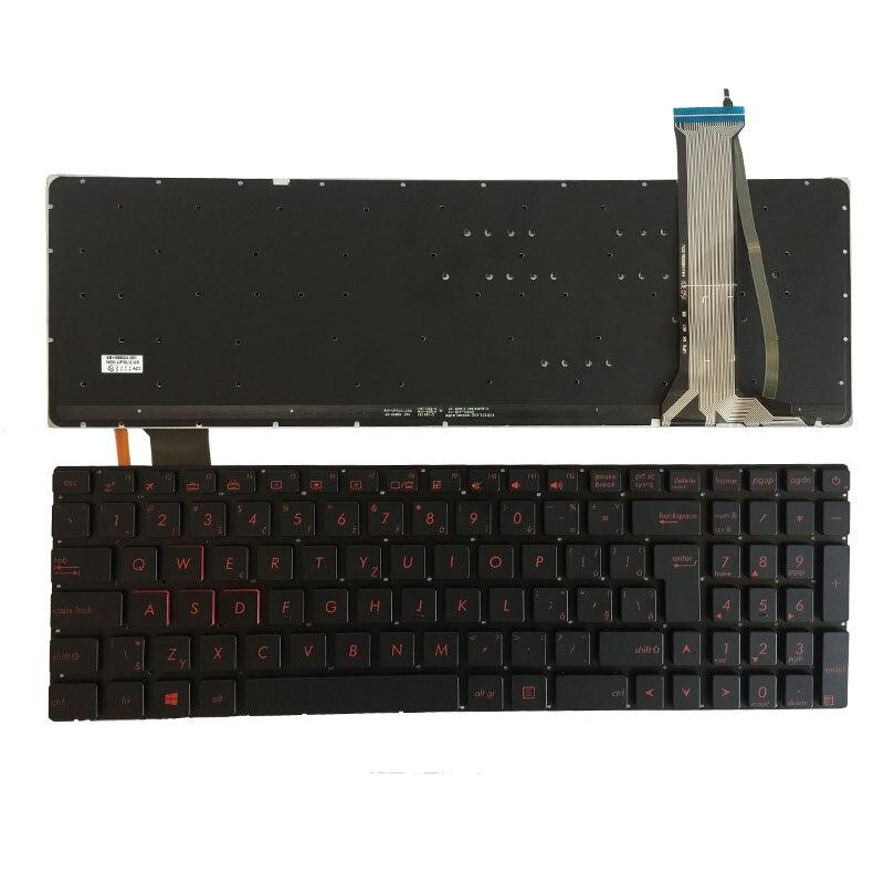 Teclado checo nuevo para ASUS N751 N751J N751JK N751JX retroiluminado CZ teclado portátil sin marco