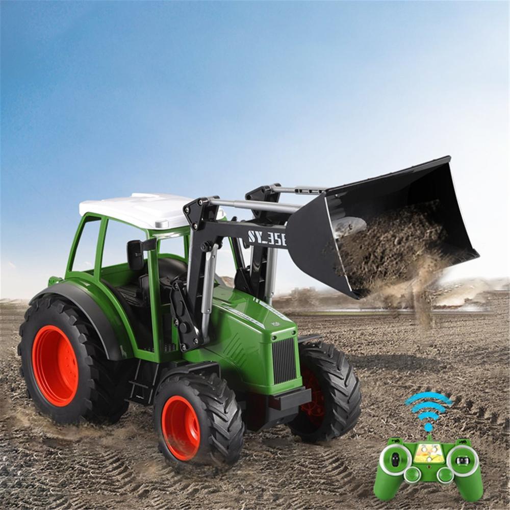 RC excavadora granja Bulldozer 2,4G RC coche juguetes Control remoto vehículo agrícola coche de alta velocidad juguetes para niños regalo E356-003