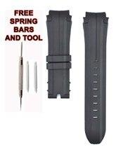 212ZTD Schwarz Gummi Armband Kompatibel Mit Festina Chrono Bike F16882-5 20mm FES101